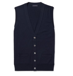 Thom Sweeney - Slim-Fit Merino Wool Sweater Vest