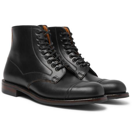 Jarrow Cap-toe Leather Boots