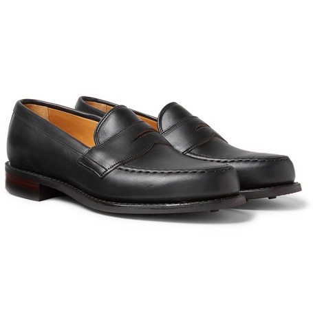 CHEANEY Howard Leather Penny Loafers - Black