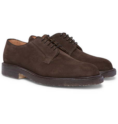 CHEANEY Deal Suede Derby Shoes - Brown