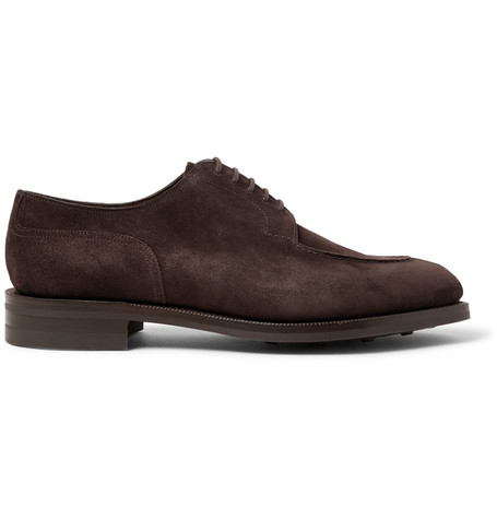 EDWARD GREEN Dover Suede Derby Shoes - Brown