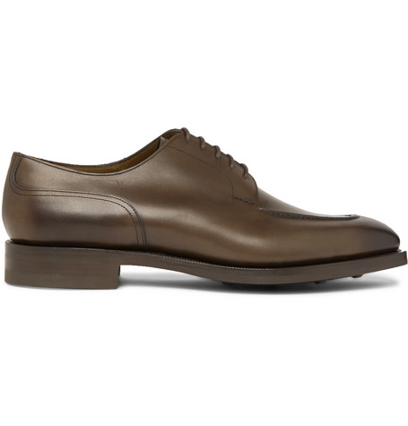 EDWARD GREEN Dover Leather Derby Shoes - Green