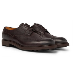 Edward Green - Borrowdale Textured-Leather Wing-Tip Brogues