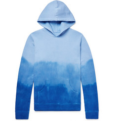 The Elder Statesman Dip-Dyed Dégradé Fleece-Back Cotton-Jersey Hoodie