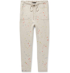 The Elder Statesman - Slim-Fit Tapered Paint-Splattered Cashmere Sweatpants