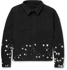 The Elder Statesman - Bleach-Splattered Cotton-Canvas Jacket