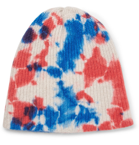 713c179b2d9bf2 Shoptagr | Watchman Tie Dyed Ribbed Cashmere Beanie by The Elder Statesman