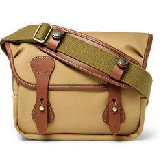 Leica + Billingham Combination M Leather-Trimmed Cotton-Twill Camera Bag