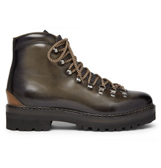 Ralph Lauren Purple Label Fidel Leather Boots