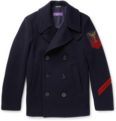 Ralph Lauren Purple Label - Embellished Wool and Cashmere-Blend Peacoat