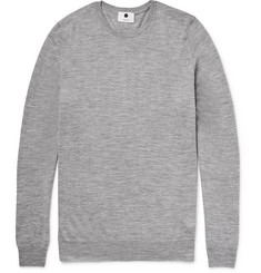 NN07 Charles Slim-Fit Mélange Merino Wool Sweater