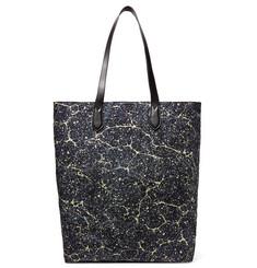 Dries Van Noten Leather-Trimmed Printed Canvas Tote Bag