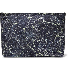 Dries Van Noten Leather-Trimmed Printed Canvas Pouch