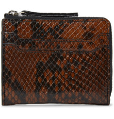Dries Van Noten Snake-Effect Leather Zip-Around Wallet