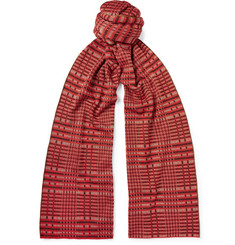 Dries Van Noten Checked Merino Wool-Blend Jacquard Scarf