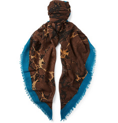 Dries Van Noten Patterned Wool Scarf