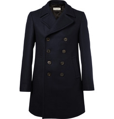 Dries Van Noten Caban Double-Breasted Wool-Blend Peacoat