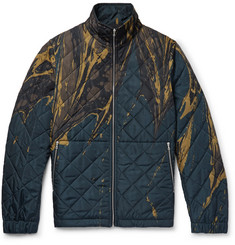 Dries Van Noten Slim-Fit Printed Quilted Shell Jacket