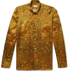 Dries Van Noten - Bib-Front Printed Satin-Twill Shirt