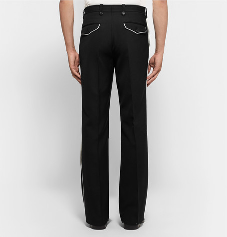 Contrast Trimmed Woven Trousers by Dries Van Noten