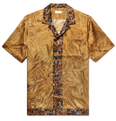 Dries Van Noten - Camp-Collar Printed Satin-Twill Shirt