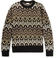 Dries Van Noten - Oversized Metallic Wool-Blend Jacquard Sweater
