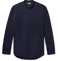 Dries Van Noten Grandad-Collar Cotton-Twill Shirt