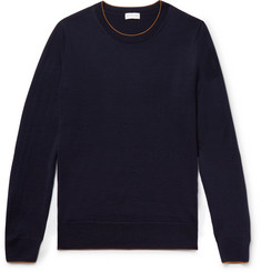 Dries Van Noten Contrast-Tipped Merino Wool-Blend Sweater
