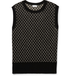 Dries Van Noten Slim-Fit Merino Wool-Blend Jacquard Sweater Vest