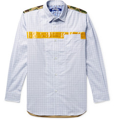 Junya Watanabe + Carhartt Nylon and Ripstop-Trimmed Checked Cotton-Twill Shirt