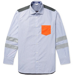 Junya Watanabe - Panelled Cotton-Poplin and Ripstop Shirt