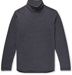 Junya Watanabe - Striped Cotton-Jersey Rollneck T-Shirt
