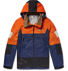 Junya Watanabe - Colour-Block Nylon Hooded Jacket