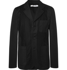 Comme des Garçons SHIRT - Black Slim-Fit Unstructured Twill-Panelled Wool Blazer