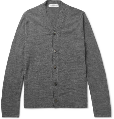 Comme Des GarÇons Shirt Knitted Cardigan In Gray