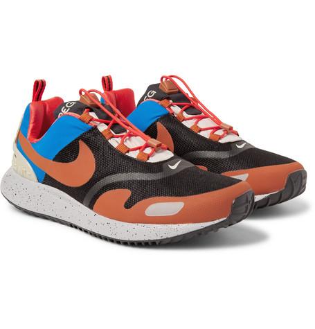 online retailer 28f26 99e36 Nike Air Pegasus At Ripstop And Mesh Sneakers - Black