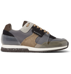 Acne Studios Jimmy Mesh, Suede and PVC Sneakers