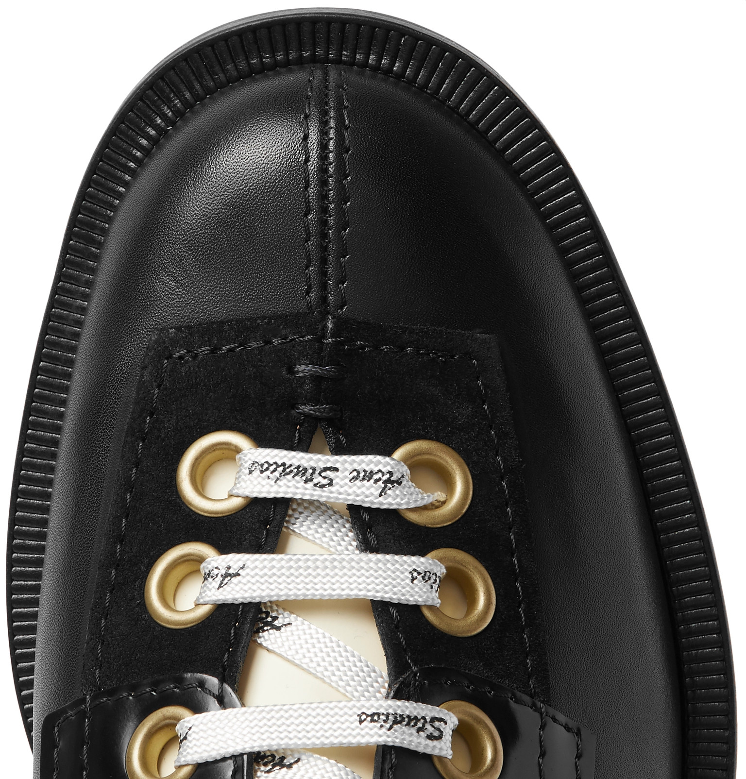 Shoes Panelled Studios Leather Acne Derby Suede HOXx8 0fa23234386