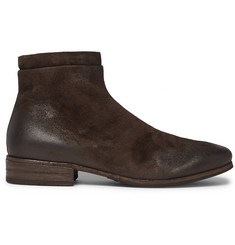 Marsell Burnished-Suede Chelsea Boots