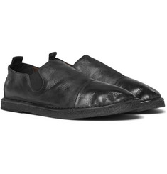 Marsell - Cap-Toe Washed-Leather Loafers