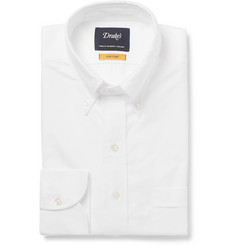 Drake's - White Button-Down Collar Cotton Oxford Shirt