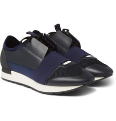 Balenciaga - Race Runner Leather, Suede and Neoprene Sneakers