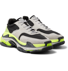 Balenciaga - Triple S Nylon, Suede and Leather Sneakers