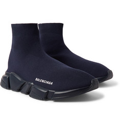 Balenciaga - Speed Sock Stretch-Knit Slip-On Sneakers