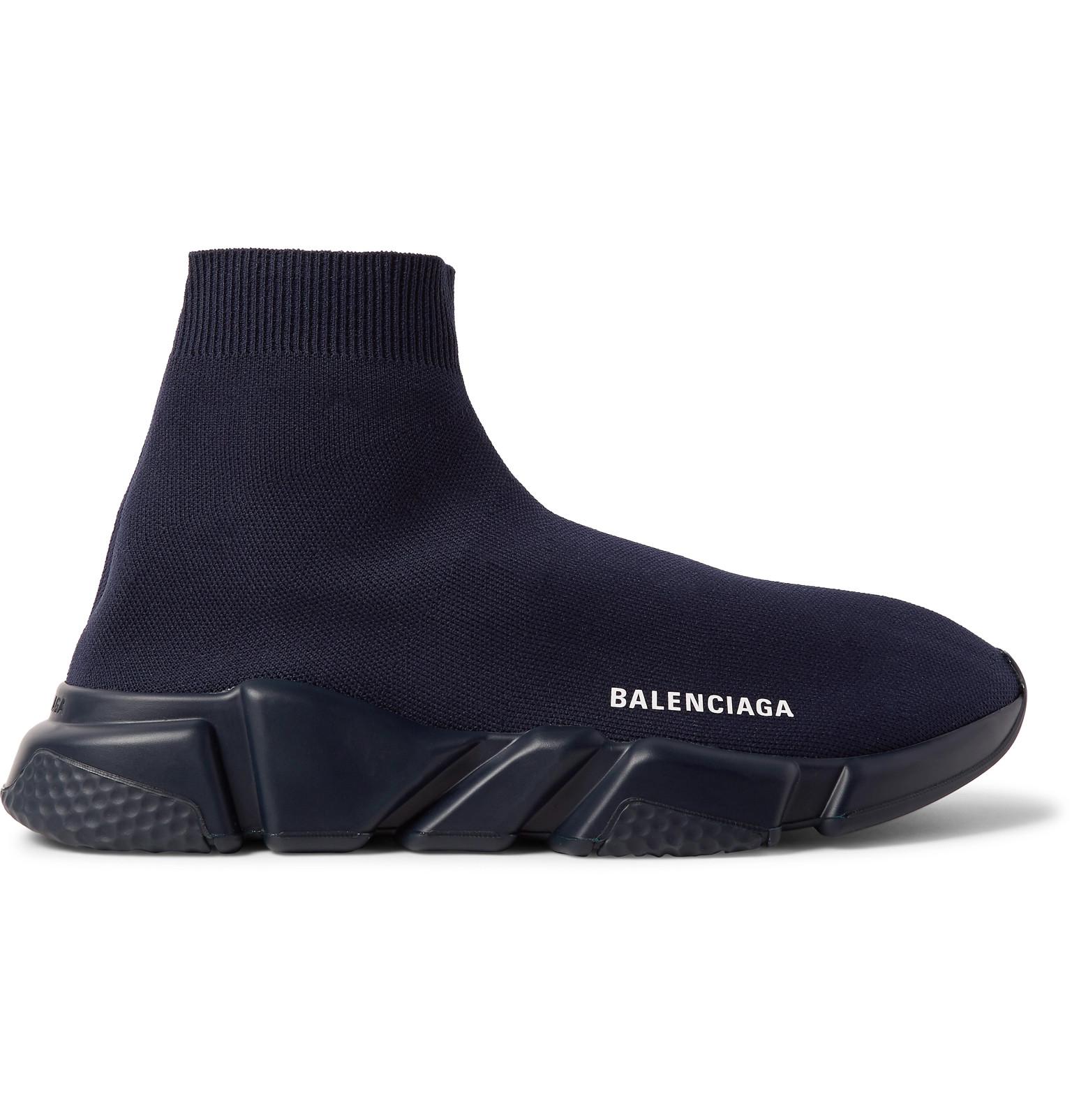 4c1f18f06dd6 Balenciaga - Speed Sock Stretch-Knit Slip-On Sneakers