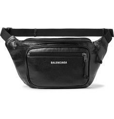 Balenciaga Arena Creased-Grain Leather Belt Bag