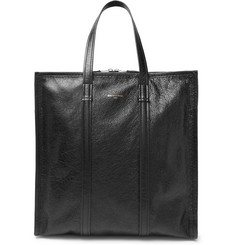 Balenciaga Bazar Arena Creased-Leather Tote Bag