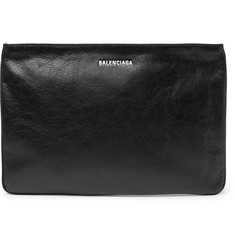 Balenciaga - Explorer Creased-Leather Pouch