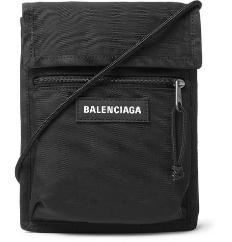 b5dc860aa54 Balenciaga - Logo-Detailed Canvas Messenger Bag