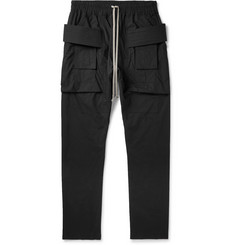 Rick Owens - DRKSHDW Creatch Tapered Cotton Drawstring Trousers